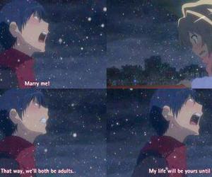 toradora, anime, and love image