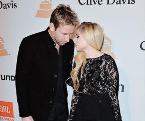 Avril Lavigne, black, and couple image