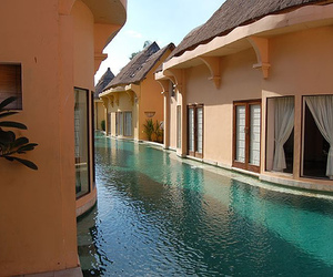 house, luxury, and water image