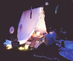light, night, and picnic image