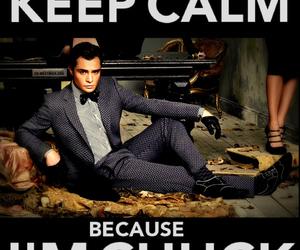 chuck bass, keep calm, and gossip girl image