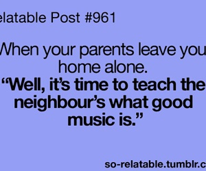 funny, music, and alone image