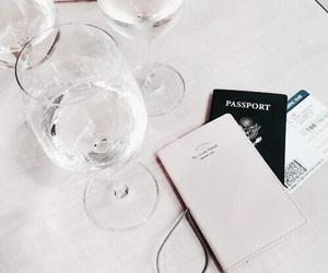 travel, passport, and wine image
