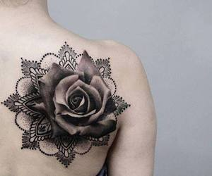 tattoo, beauty, and rose image