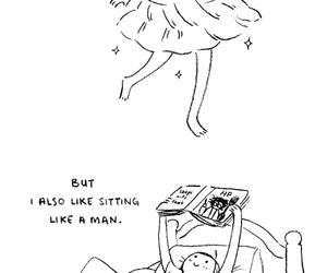 skirt, girl, and funny image