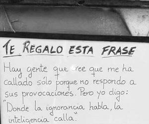 frases, frases en español, and ignorancia image