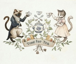 cat, tea, and time image