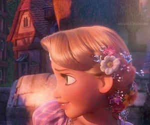 rapunzel, tangled, and disney image