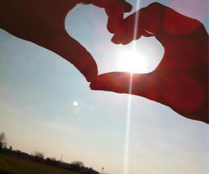 friendship, heart, and sun image