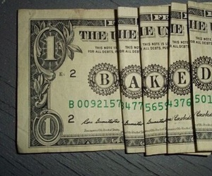 money, baked, and weed image