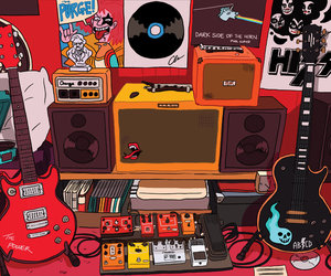 bedroom, musician, and art image