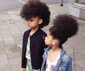 Afro, beautiful, and kids image