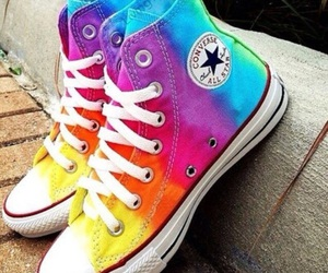 converse, shoes, and rainbow image