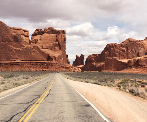 travel, desert, and road image