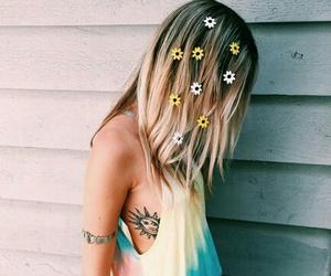 blonde, flower, and indie image