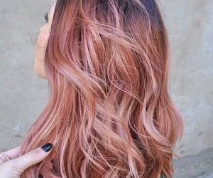 hair, rose gold, and pink image
