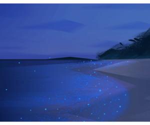 beach, glow, and Maldives image