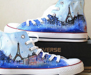 paris, shoes, and converse image