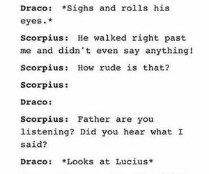 draco malfoy, funny, and tumblr image