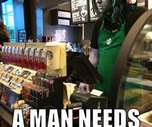game of thrones, funny, and starbucks image