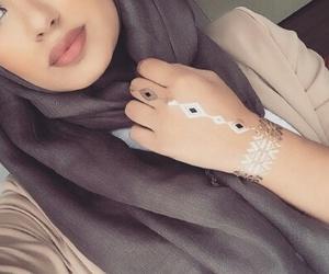 hijab, beauty, and makeup image