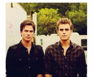 stefan salvatore, damon salvatore, and salvatore brothers image