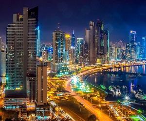 city, panama, and night image