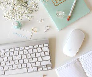 decor, feminine, and office image