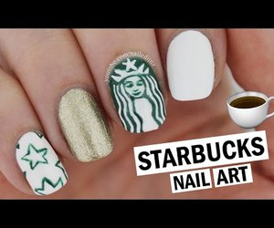 beauty, starbucks, and stars image