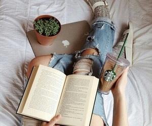 book, starbucks, and coffee image
