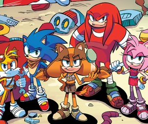 sonic boom, knuckles the echidna, and Sonic the hedgehog image