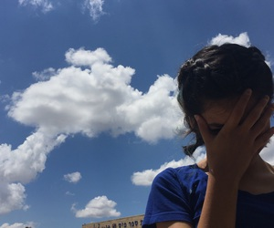 blue, clouds, and shorthair image