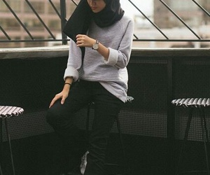 clothes, hijab, and outfit image
