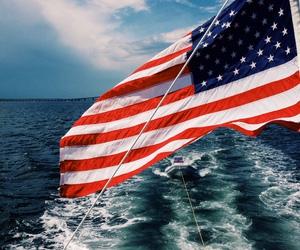flag, usa, and america image