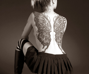tattoo, butterfly, and wings image