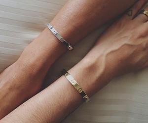 bracelet, couple, and cartier image