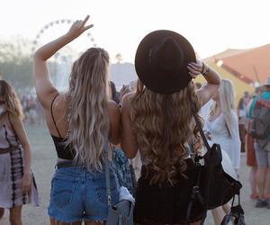 coachella, friends, and festival image