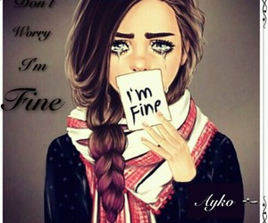 sad, girly_m, and art image