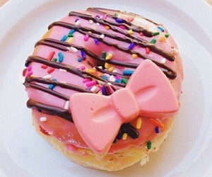 donuts, pink, and food image
