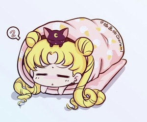 sailor moon, anime, and chibi image
