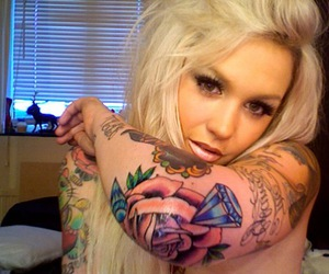 blonde, SJ, and Tattoos image