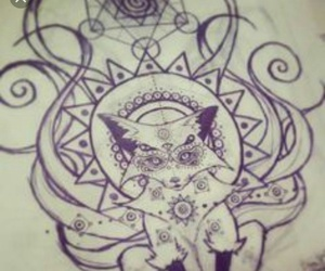 mandala, beautiful, and fox image