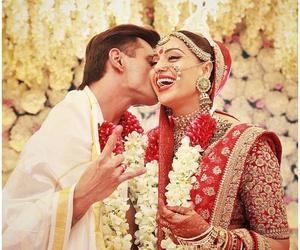 couple, wedding, and karan image
