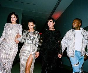 kanye west, kim kardashian, and kylie jenner image