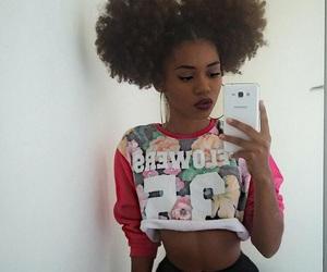 hair, curly hair, and natural hair image
