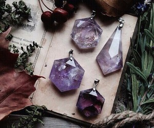 books, crystals, and diamonds image