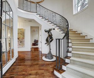 decor, dream home, and staircase image
