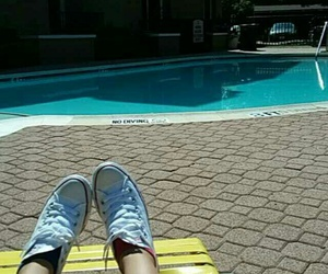 beautiful day, relax, and poolside image