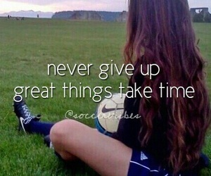football and never give up image