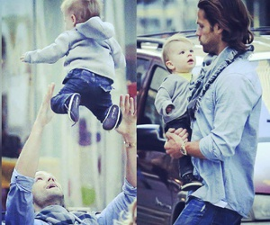 baby, father, and jared padalecki image